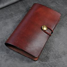 A6 Leather Journal Diary  Notebook /looseleaf by FocusmanLeather, $45.00