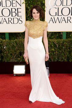 Michelle Dockery wearing Alexander McQueen @ Golden Globes '13
