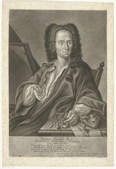 Portret Johann Daniel Hertz (I), Gabriel Bodenehr (II), 1740