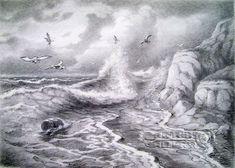 Pencil Art Landscapes   Pencil drawings. Drawing. Sea wanderers. Kulagin Oleg