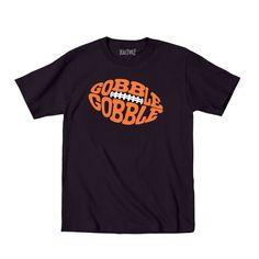 Gobble Gobble Football Cute Thanksgiving Humor - Toddler T-Shirt - Black - 2T