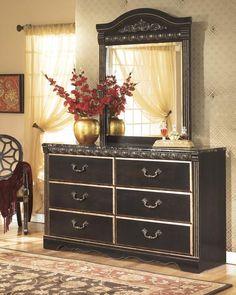 Coal Creek - 2pc Dresser Mirror Set