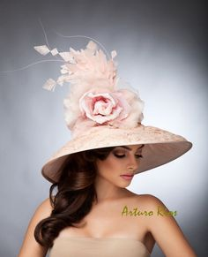 Blush Pink Derby Hat Couture Derby hat Kentucky by ArturoRios, $249.00