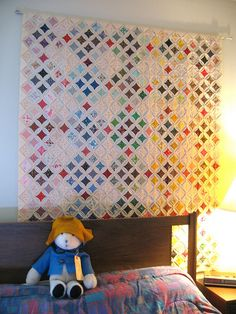 cathedral window quilt | cool pattern