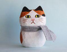 Cat Art, Book Art, Diy And Crafts, Wood, Decor, Products, Concept Art, Gatos, Animales