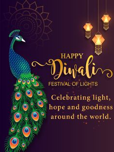This year Diwali is celebrated on 27th October in India. Diwali itself a synonym for lights, happiness, colors, love, affection. On this Diwali, wish your friends, family, and your dear ones with our beautiful Diwali Peacock Card. Diwali Pictures, Diwali Images, Diwali Cards, Diwali Wishes, Birthday Greeting Cards, Birthday Greetings, Happy Diwali Status, Birthday Reminder, Birthday Calendar