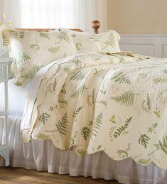King Tranquil Fern Quilt Set