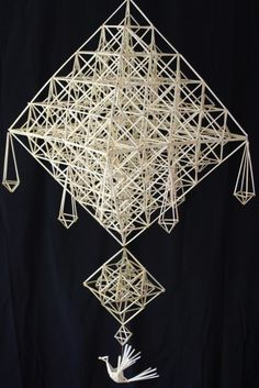 Straw Weaving, Weaving Art, Straw Decorations, Paper Chandelier, Mood And Tone, Weaving Designs, Hanging Mobile, Paper Clay, Scandinavian Christmas