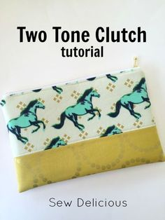 Two Toned Clutch Purse tutorial