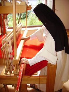 weaving is a very mindful and contemplative activity.