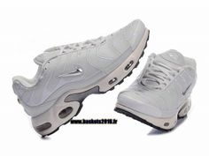 sports shoes ad7b7 80a8b Nike Air Max Tn Requin Tuned 1 Chaussures Baskets2016 Pas Cher Pour Femme  Blanc Argent