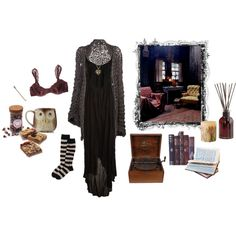 bookworm gothic by eatdaisies on Polyvore featuring B*+S, Mikoh, STELLA McCARTNEY, FOSSIL, Pier 1 Imports and Rosy Rings