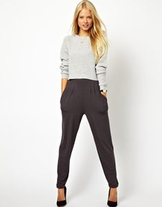ASOS Peg Trousers In Jersey, I'm too short for them but super cute!