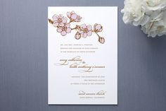 Azaria Wedding Invitations by Dauphine Press at minted.com