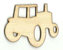 Tractor Laser Cut Unfinished Wood Shapes  Variety of Sizes Craft Supply DIY CAR844