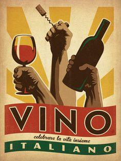 iCanvas 'Vino Italiano' by Anderson Design Group Vintage Advertisment on Canvas