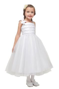 flowergirldressshop Girl's Satin And Lace Detail Bodice With Tulle Skirt Flower Girl Dress-White-2 Kid Collection http://www.amazon.com/dp/B00CZQJ620/ref=cm_sw_r_pi_dp_RXWfvb0T82P3T
