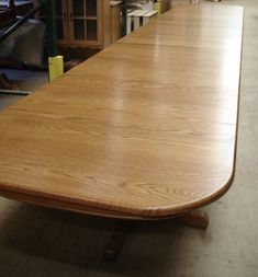 Shop DutchCrafters for Amish made Triple Pedestal Dining Tables and large dining room tables. This solid wood triple pedestal table is custom made for each cus
