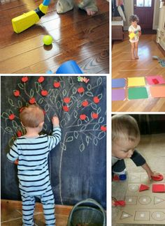 Indoor activities for child. #indoor #kidsactivities... felt tree with detachable leaves, fruit, etc?