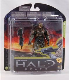 McFarlane Toys Halo Reach Series 4 UNSC Marine Major Action Figure by McFarlane Toys. $12.81. These Marines feature distinctive elements such as darker toned camouflage, fully enclosed helmets, and Base Security shoulder armor. Figure includes Assault Rifle. Figure features multiple points of articulation. From the Manufacturer                McFarlane Toys is proud to present our forth line of action figures from the blockbuster video game, Halo Reach. Halo Reach Serie...
