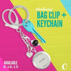 You asked for it, now it's here! Origami Owl Bag Clip and Keychain!  www.kateoyer.origamiowl.com
