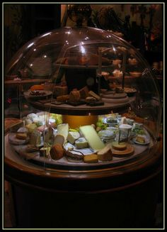 La Cloche du Fromage in Strasbourg, France - a display of the most wonderful cheese in the world at a restaurant that specializes in cheese.  Fromage - Strasbourg, Alsace Copyright: Rebecca Ford