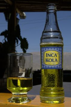Inca Kola - Peru-  tasted on the train to Machu Picchu