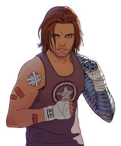 Mmm gimme the metal armed beauty that is Bucky Barnes Marvel Dc, Marvel Fanart, Serie Marvel, Baby Marvel, Loki, Thor, Sebastian Stan, Winter Soldier Bucky, Bucky Barnes Fanart