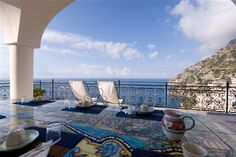 The view from one of our fabulous rentals, Villa Oliver, in Positano.