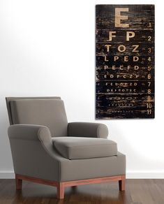 Hey, I found this really awesome Etsy listing at https://www.etsy.com/listing/241774839/vintage-eye-chart-wall-art-retro-sign-on