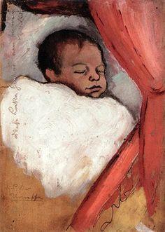 August Macke - Son Walter three days old, 1910