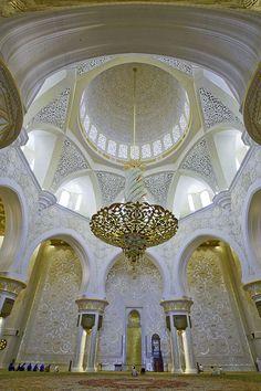 beautiful interior of mosque, Emirates