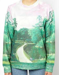 Paul by Paul Smith Sweatshirt in British Landscape Print