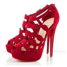 34b67fa801e9 Christian Louboutin Larissa Plato 140mm Sandals Red