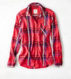 purchased. AEO Jaquard Plaid Shirt