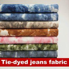 Günstige 4 farbe wasser waschen batik stretch baumwolle jeans stoff kleidung stoff, Kaufe Qualität Stoff direkt vom China-Lieferanten:   Produkt Detail Artikel: Slub Stretch Baumwolle Jeans Stoff  Zusammensetzung: Baumwolle u