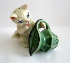 Vintage Ceramic Arts Studio Cat Milk Pitcher Salt Pepper Shakers Kitten | eBay