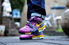 """Nike Air Trainer III B """"Viotech"""" The #Viotech name may be remembered today more for the Dunk Low that dropped in 2001, but the Air Trainer III is no slouch. The colorway is unmistakable with its obnoxiously bright yellow and purple hues but it came at a time in which the Nike Air Trainer III was also an underrated silhouette. #AirTrainerIII #NikeAir #Trainer #NikeTrainer"""
