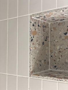 Terrazzo Nouveau Ivory Matt Porcelain Family Bathroom, Master Bathroom, Mandarin Stone, Terrazzo Flooring, Bathroom Interior Design, Bathroom Design Layout, Bathroom Design Small, Bathroom Renos, Beautiful Bathrooms