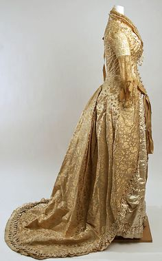 Wedding ensemble (image 2) | American | 1880 | silk, beads, leather | Metropolitan Museum of Art | Accession Number: C.I.55.40.2a–k