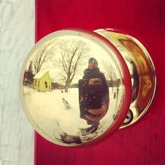 Self-Portrait with Fate and Studio in Door Knob