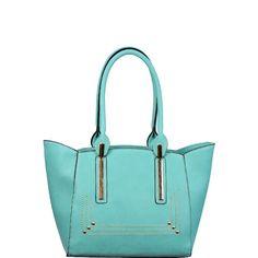 Metal Handle Ends Shoulder Purse Mint - Wholesale Handbags Shop
