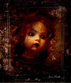 """Dolls Head In Wall"" by Jasin Holliday aka Mr-Moonlight @ deviantart Creepy Dolls, Doll Head, Moonlight, Deviantart, Wall, Painting, Painting Art, Walls, Paintings"