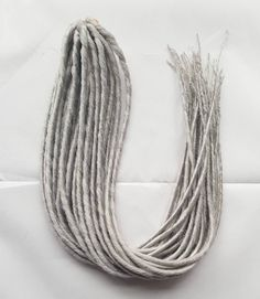Elysee Star - #60 Silver Blonde Synthetic Dreadlocks (Double Ended) Pa – DreadLab