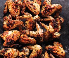 Herbed Grilled Chicken Wings - marinade a day ahead and quick cook while party guests enjoy drinks and apps        Herb Grilled Chicken Wings Recipe  at Epicurious.com