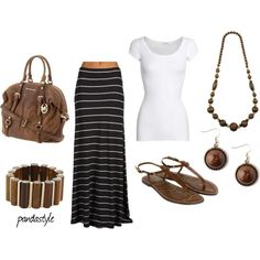 black- white-brown, created by pandastyle-821 on Polyvore