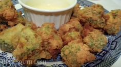 Deep Fried Broccoli - Broccoli florets dipped in batter and tossed in seasoned flour, then quickly deep fried - a crunchy on the outside, tender on the inside appetizer.
