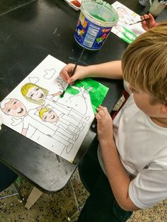 2nd Grade Family Portraits (Step by Step Lesson)