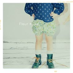 Spring Garden Floral Bloomer Bubble Girl Shorts Spring Summer Collection from Fleur and Dot