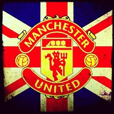 This is a fabulous one! The Union Jack flag, with the Manchester United emblem inside it. I Love Manchester, Manchester United Football, Cross County, Sports Team Logos, Best Football Team, Red Army, Man United, Club, The Unit